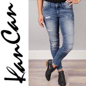 Kancan Estilo Mid Rise Moto Style Skinny Jeans